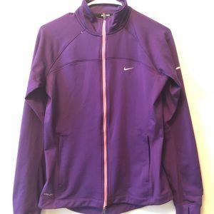 Nike purple zip up jacket